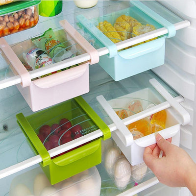 La Belle Sophie BU / China Slide Kitchen Fridge Freezer Space Saver Organizer Storage Rack Shelf Holder High Quality Housekeeping Container Organizers