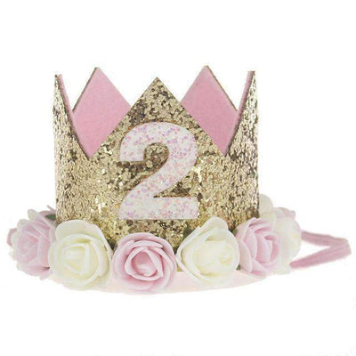 La Belle Sophie D Flower Party Crown Headband Birthday
