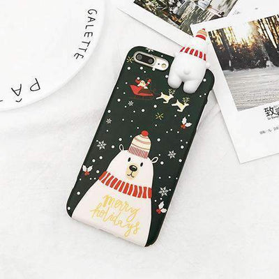 La Belle Sophie Dark Green / For iPhone 6 6S Xmas Phone Case For iPhone