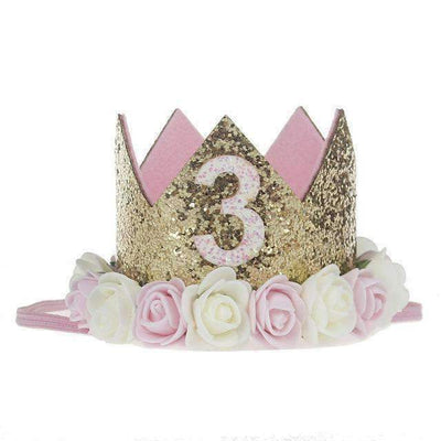 La Belle Sophie E Flower Party Crown Headband Birthday