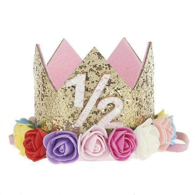 La Belle Sophie F Flower Party Crown Headband Birthday