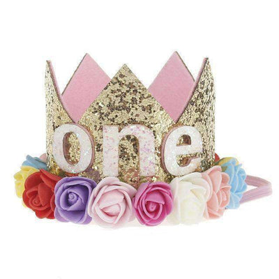 La Belle Sophie G Flower Party Crown Headband Birthday