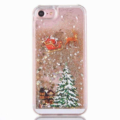 La Belle Sophie Gold / for iphone 6 6S Christmas Quicksand Phone Case
