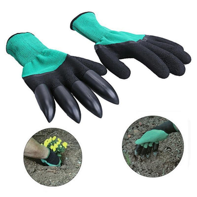 La Belle Sophie Green Garden Gloves with Claws for Digging and Planting