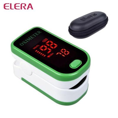 La Belle Sophie green with case Fingertip Pulse Oximeter