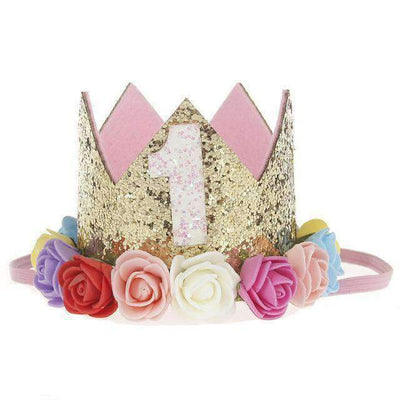 La Belle Sophie H Flower Party Crown Headband Birthday