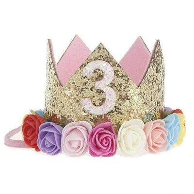 La Belle Sophie J Flower Party Crown Headband Birthday