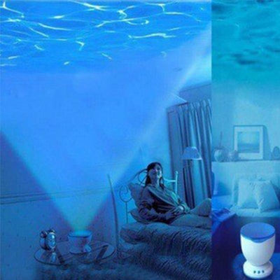Ocean Blue Sea Waves Projection Night Lamp