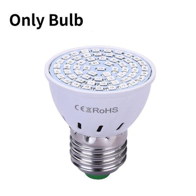 La Belle Sophie Only Bulb / 60LEDs LED Grow light Full Spectrum Phyto Lamp Hydroponics Fitolamp With Clip For Vegetable Flower Seedings Greenhouse Plant Lighting