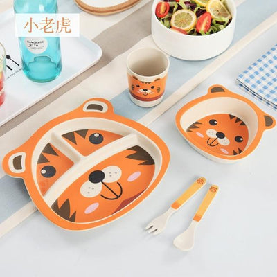 La Belle Sophie Orange Set 5pcs/set Baby Dish Tableware