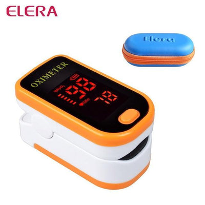 La Belle Sophie orange with case Fingertip Pulse Oximeter