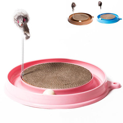 La Belle Sophie Pink Cat Scratching Pad with Springy Toy