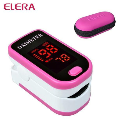 La Belle Sophie pink with case Fingertip Pulse Oximeter