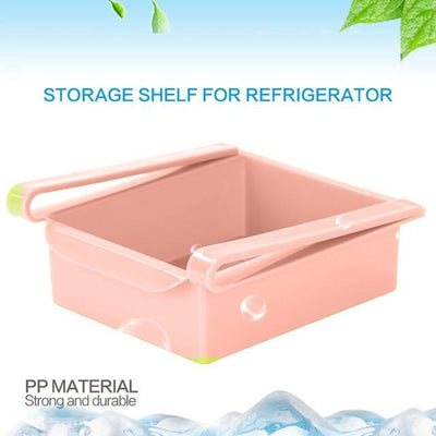 La Belle Sophie PK / China Slide Kitchen Fridge Freezer Space Saver Organizer Storage Rack Shelf Holder High Quality Housekeeping Container Organizers