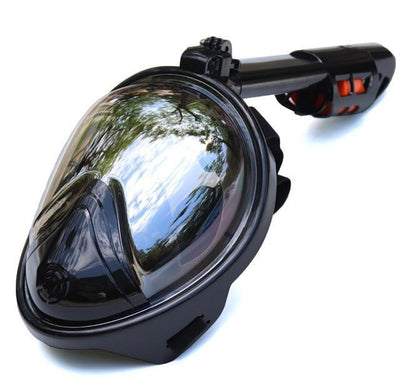 La Belle Sophie Plated Black / S/M Full Face Snorkeling Masks Panoramic View