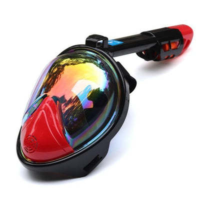 La Belle Sophie Plated Red / S/M Full Face Snorkeling Masks Panoramic View