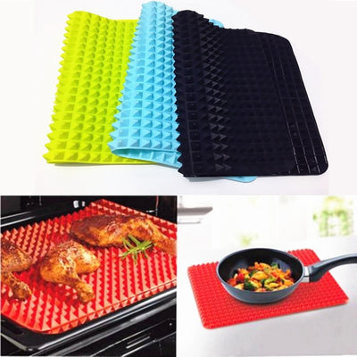 La Belle Sophie Red 40x27cm Pyramid Bakeware Pan 4 color Nonstick Silicone Baking Mats Pads Moulds Cooking Mat Oven Baking Tray Sheet Kitchen Tools