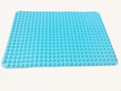 La Belle Sophie Sky Blue 40x27cm Pyramid Bakeware Pan 4 color Nonstick Silicone Baking Mats Pads Moulds Cooking Mat Oven Baking Tray Sheet Kitchen Tools