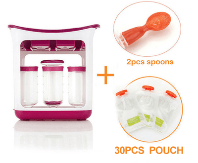 La Belle Sophie Station+30pouch 2spoons Pressed Food Pouch Packing Station