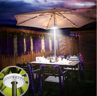 La Belle Sophie Super bright 28 LED Battery Patio Umbrella