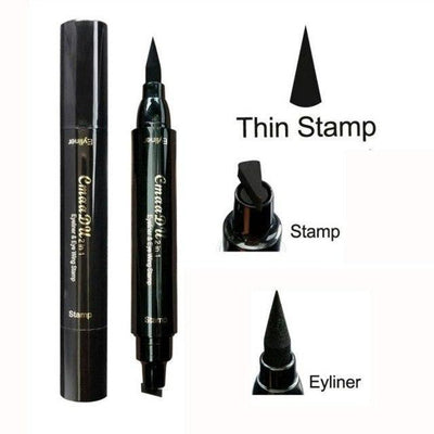 La Belle Sophie Thin Stamp Sexy Eye Makeup Double Head Eyeliner