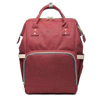 La Belle Sophie Wine Red Maternity Nappy Bag Large Capacity