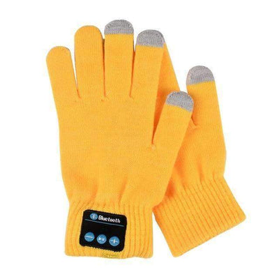La Belle Sophie Yellow / One Size Talk to the Hand Bluetooth Winter Gloves. Smart Phone