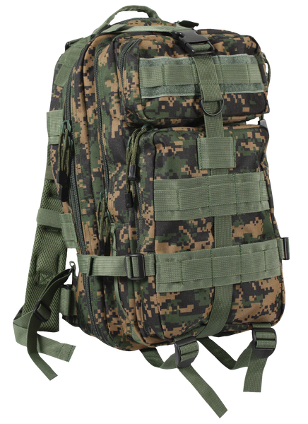 Rothco Medium Transport Pack Woodland Digital (2559) / Bagpacks - Iceberg Army Navy