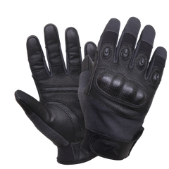 Rothco Carbon Fiber Hard Knuckle Cut/Fire Resistant Gloves Black (CFNG)