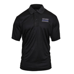 Rothco Moisture Wicking Polo Blue Line T-Shirt Black (2812) / T-Shirts - Iceberg Army Navy