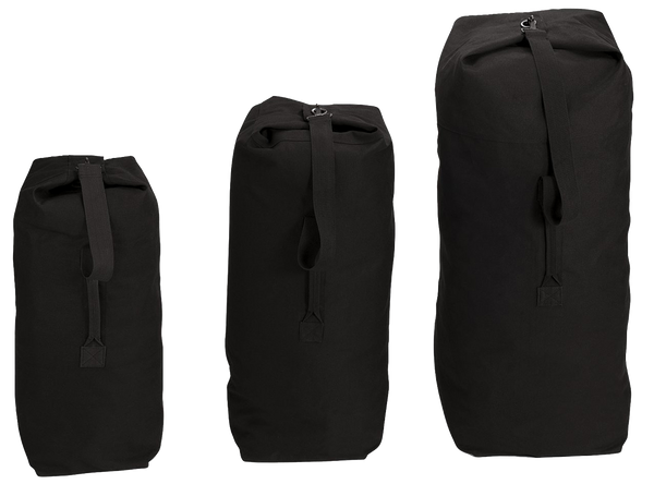 Rothco Canvas GI Duffle Bag Black (Multi) / Canvas Cargo / Duffle Bags - Iceberg Army Navy