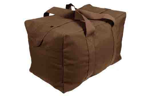 Rothco Canvas Parachute Cargo Bag Brown (3123) / Canvas Cargo / Duffle Bags - Iceberg Army Navy
