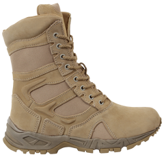 "Rothco Men's Forced Entry 8"" Side Zipper Deployment Boots (5357) / Tactical Boots - Iceberg Army Navy"