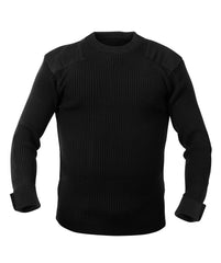 Rothco GI Style Commando Sweater Black (6347) / Sweatshirts - Iceberg Army Navy