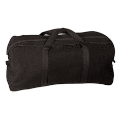 Rothco Canvas Tanker Tool Duffle Bag Black (8183) / Canvas Cargo / Duffle Bags - Iceberg Army Navy