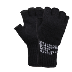 Rothco GI Cut off Wool Gloves Black (GLCO)
