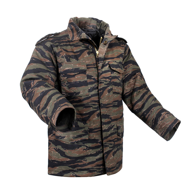 Rothco M65 Field Jacket Tiger Stripe Camo (M65R) / M65 Field Jackets - Iceberg Army Navy