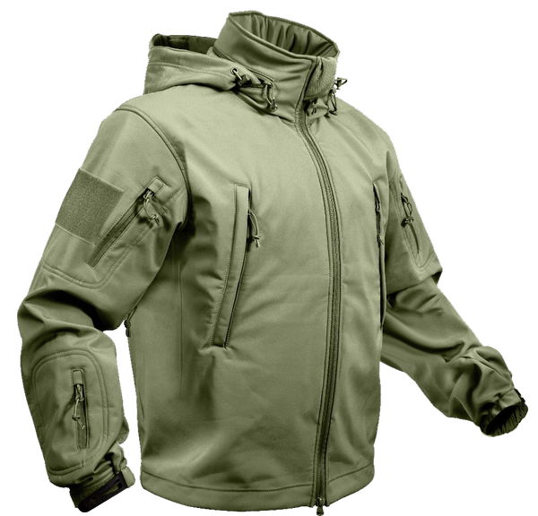 Rothco Spec Ops Soft Shell Jacket Olive Drab (TACJAC) / Spec Ops Jackets - Iceberg Army Navy