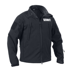"Rothco Spec Ops Soft Shell Jacket Black ""Security"" (TACJAC)"