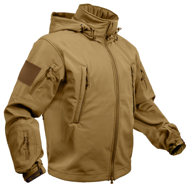 Rothco Spec Ops Soft Shell Jacket Coyote Brown (TACJAC)