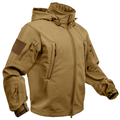 Rothco Spec Ops Soft Shell Jacket Coyote Brown (TACJAC) / Spec Ops Jackets - Iceberg Army Navy