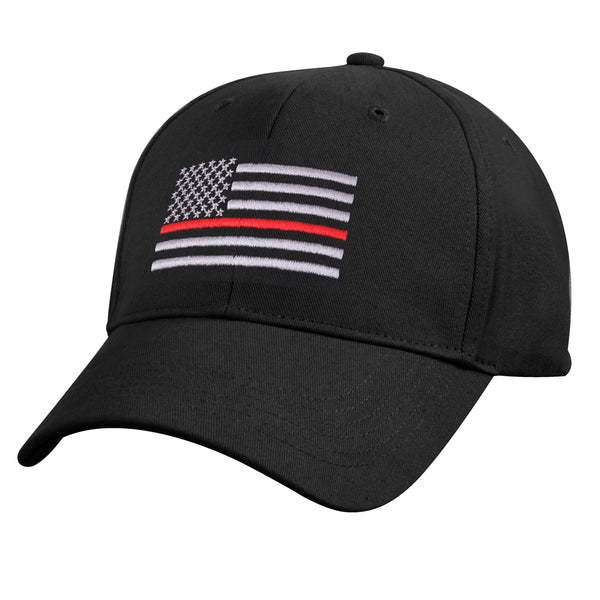Rothco Thin Red line Low Profile Cap Black (9896) / Caps / Hats - Iceberg Army Navy