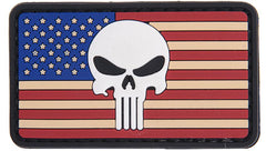 US Punisher Skull Flag Patch (PATCH040A) / Morale Patch - Iceberg Army Navy