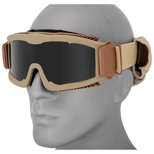 Tan Night Hawk Goggle (DLXGGLT) / Mask - Totowa Airsoft
