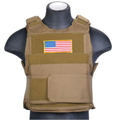 Tan Body Armor Vest (BAV) / Tactical Vest - Totowa Airsoft