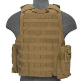 Tan Deluxe Strike Plate Carrier Vest (VESTDLXSPT) / Tactical Vest - Iceberg Army Navy