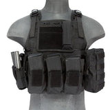 Tactical Assault Plate Carrier Vest Black (TAC2VEST) / Tactical Vest - Iceberg Army Navy