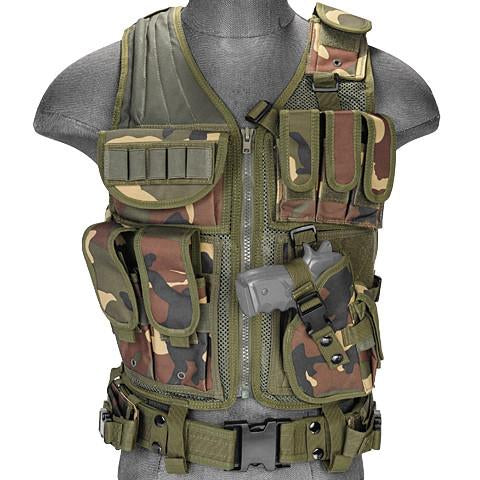 Woodland G2 Cross Draw Tactical Vest (TACVEST1) / Tactical Vest - Iceberg Army Navy