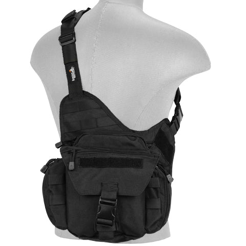 Tactical Side Messenger Bag Black (TMBAG) / Tactical Bags - Iceberg Army Navy