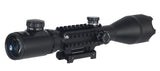 4-16x50mm Tri-Rail Illuminated Rifle Scope with Integrated Scope Mount (DEFENDERS) / Telescopic Sight - Iceberg Army Navy